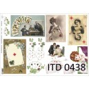 Papier do decoupage (A3), ITD 0438 Karty