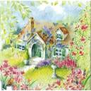 Serwetka Domek na wsi - malowany