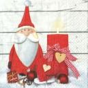 Serwetka Mikołaj ze świecą